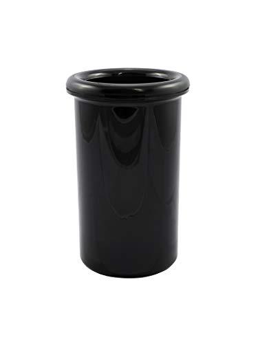 TUNDRA ICE INTERNATIONAL Termobottiglia Nero in Polistirene 100% Design Italiano, Refrigeratore per Bottiglia di Vino a Doppia Parete, Secchiello Refrigerante per 1 Bottiglia (1,2 L)
