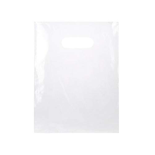 CLEARBAGS BRAND CLEAR LDPE HANDLE BAGS will safely hold merchandise and medium sized items including apparel, books, samples, favors, handouts, toys, craft and hobby, and more in a convenient easy-to-carry bag. These bags feature high tensile strengt...