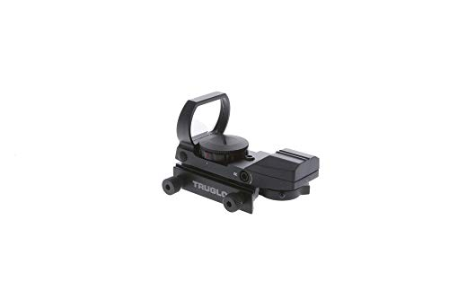 TRUGLO Red-Dot Open Sight Dual-Color 4-Reticle Black ,...