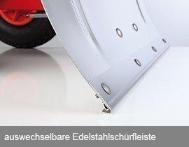 Ersatz-Edelstahlkante inkl. Schrauben für Schnee-Fuchs