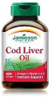 Cod Liver Oil Caps-100 Soft Gel Brand: Jamieson Laboratories