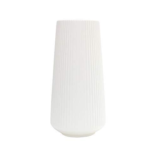 Wankd Blumenvasen, Kunststoff Vasen Moderne Blumenvase künstliche Blumenvase Blumenschmuck Home Tisch Dekor Hochzeit Herzstück Blumenbehälter dekorative Vase,15.5 * 30.5cm (Weiß)