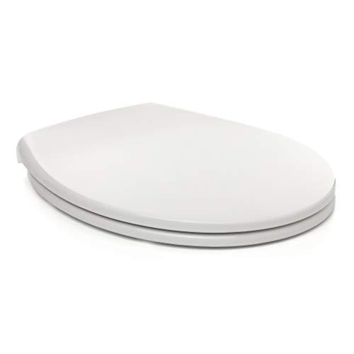 Tatay Asiento WC de caida controlada, en UF, Material antibacterias, resistene y no se Raya. Color Blanco Acabado Brillante