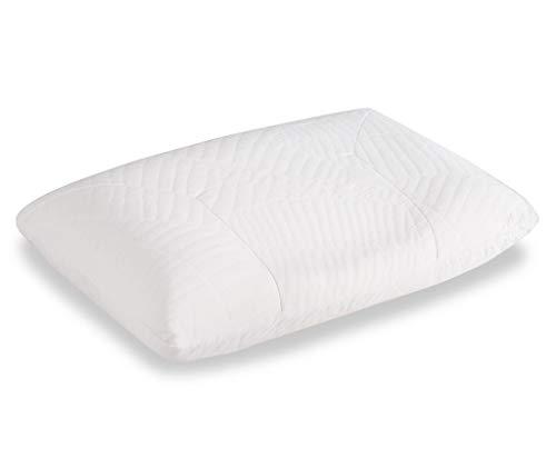 Cocoon - Almohada de 40 x 60 cm, cojín cervical con forma ergonómica, látex natural, antialérgica y antibacteriana, efecto de espuma viscoelástica,