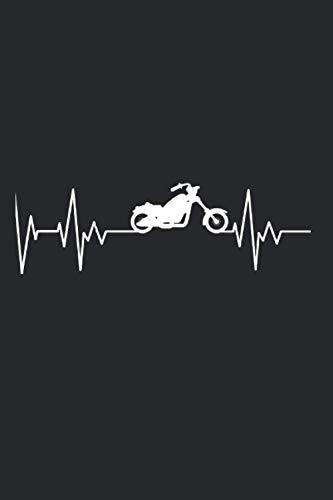 Chopper Motorrad Biker Herzschlag Motorradfahrer Geschenk: 6x9 Notizbuch