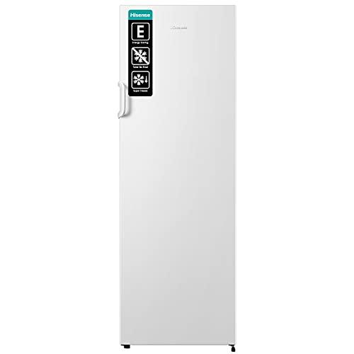 Hisense FV245N4AW2 Congelatore, Effetto Acciaio Inox, Bianco