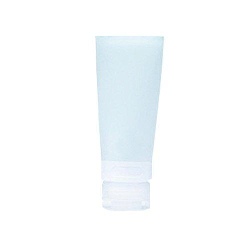 Livecity, leere Silikon-Reisetube, ideal zum Einfüllen von Shampoo / Lotion / Kosmetik, weiß, 38ML