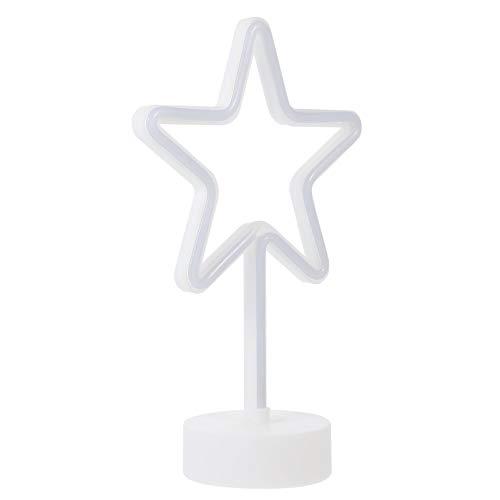 VOSAREA LED Dekoleuchte Stern Rahmen USB Batterie Betrieben Warmweiß Sternförmige Weihnachten Neujahr Stimmungslicht Leuchtreklame Weihnachtsdeko für Tische Fenster Kamin Zimmer