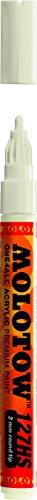 Molotow ONE4ALL - Pennarello per vernice acrilica, 2 mm, Bianco naturale.