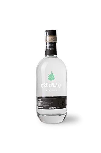 Cruzplata Tequila - Weißer Premium-Tequila Silberflasche 700 ML
