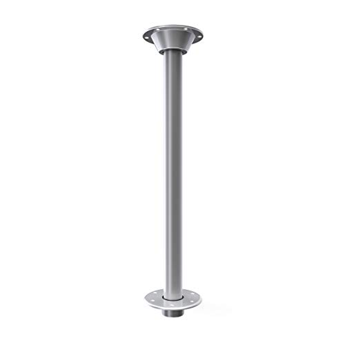 """Manufacturers' Select SurFit Legs for RV, Camper, Boat, Pontoon, Pedestal Legs from ITC Recessed Mount - Silver Powder Coated Finish - 29"""" Single Pack (B07VW377KD) -  ITC Inc., 81TL29-S-KIT-SR"""