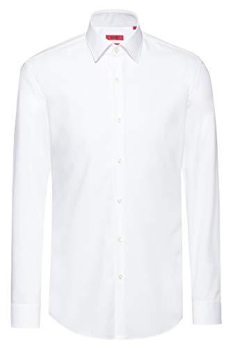 HUGO Herren Freizeithemd Kenno, Weiß (Open White 199), 42
