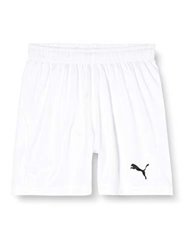 PUMA Liga Shorts Core with Brief Jr, Pantaloncini Unisex Bambini, Bianco White Black, 116