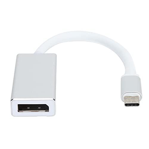 fasient1 Adaptador USB Tipo C a DisplayPort 4Kx2K, Cable convertidor Macho USB 3.1 Tipo C a DP de 10 Gbps, para MacBook Pro, para DELL XPS, para Surface Pro y más