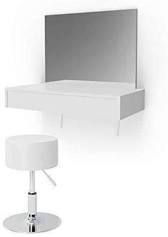 Vicco Schminktisch Alessia Frisiertisch Kommode Frisierkommode Spiegel Weiß inklusive Hocker