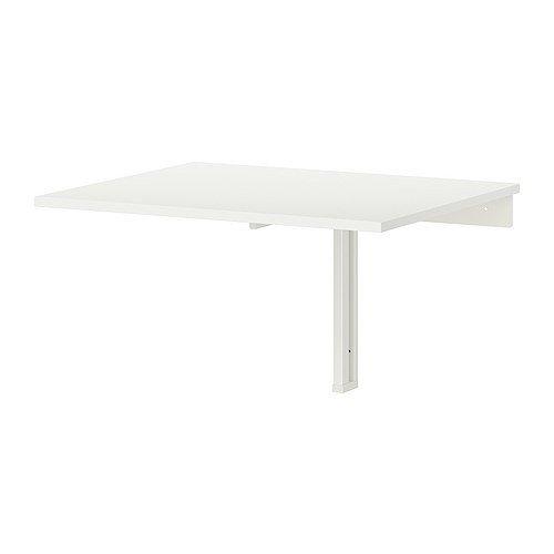 IKEA NORBERG Wandklapptisch in weiß; (74x60cm)
