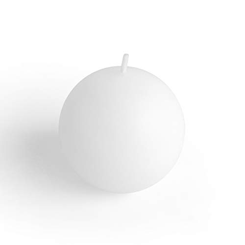 Zest Candle 2-Piece Ball Candles, 4-Inch, White Citronella