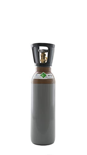 Helium 4.6 5 Liter Flasche/NEUE Gasflasche (Eigentumsflasche), gefüllt mit Helium 4.6 (Reinheit 99,996%) / 10 Jahre TÜV ab Herstelldatum/EU Zulassung - Globalimport