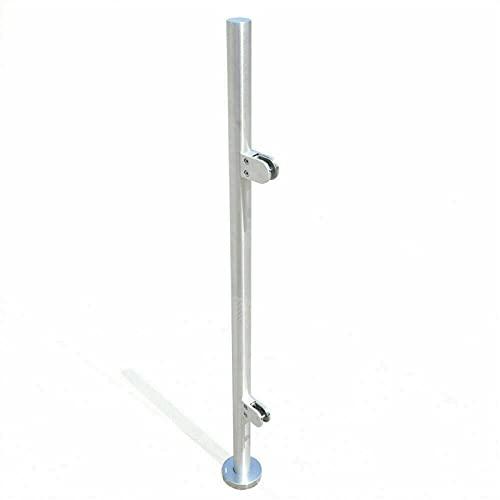 110 cm, acero inoxidable 316, barandilla de escaleras, postes de barandilla rectos, abrazaderas de cristal, vallas en diferentes barandillas interiores, planchas guía de piscina, etc.