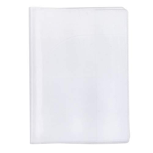 CHOUREN Collar con colgante transparente para pasaporte, funda protectora de viaje, color: esmerilado (color: esmerilado)