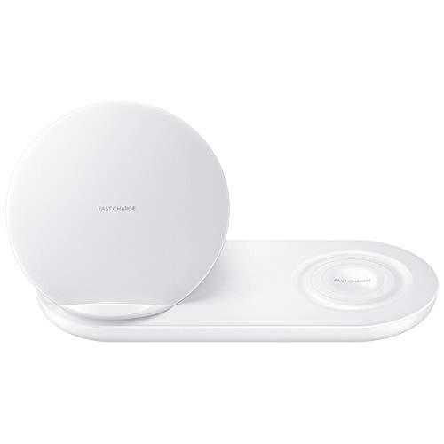 Wireless Charger, 12shage 2 in 1 Fast Schnell Ladegerät für Samsung Phone für Samsung Watch (Weiß)