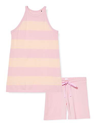 Schiesser Damen Anzug Kurz, 0/0 Arm Zweiteiliger Schlafanzug, Rot (pink 504), 42