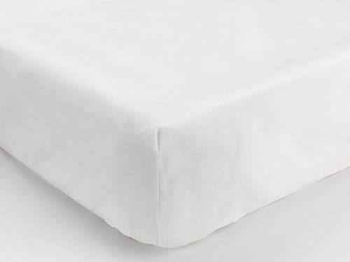 Comfortnights Fully Fitted Single, Waterproof Mattress Protector, White