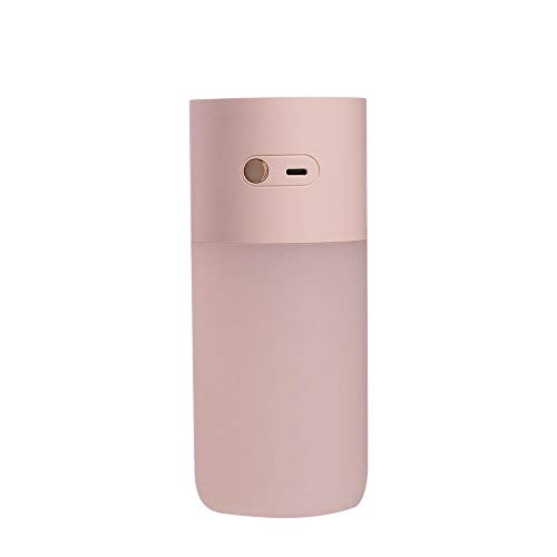 HYZY Humidificador silencioso de escritorio, aire silencioso de apagado automático sin agua con luz nocturna, tres humidificadores con luz LED, difusor de aire ultrasónico de escritorio
