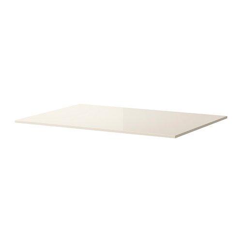 IKEA TORSBY - Mesa superior, alto brillo blanco-amarillo - 135x85 cm