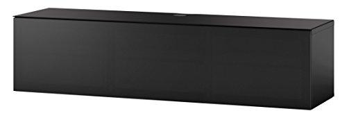 Sonorous STD 160T-BLK-BLK-WL Studio TV-Lowboard für 177,8 cm (70 Zoll) Fernseher schwarz