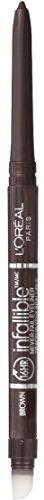 L'Oreal Paris Makeup Infallible Never Fail Original Mechanical Pencil Eyeliner with Built in Sharpener, Brown, 0.008 oz.