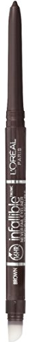 L'Oreal Paris Makeup Infallible Never Fail Original Mechanical Pencil Eyeliner with Built in Sharpener, Brown, 0.008 oz.