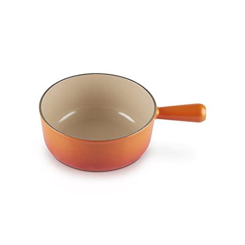 Le Creuset Caquelon aus Gusseisen, für alle Kochfeldtypen, 20 cm, 1,9 Liter, Ofenrot, 20007200902460