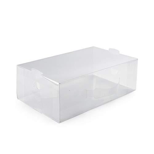 Compactor RAN5961 Caja Transparente para Almacenaje de Zapatos Mediana con Asa, Plegable, Polipropileno, M