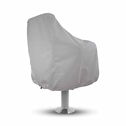 COOSOO Boat Seat Cover Outdoor Waterproof Pedestal Pontoon Captain Boat Bench Chair Seat Cover All Weather Protection Fishing Chair Protective Cover