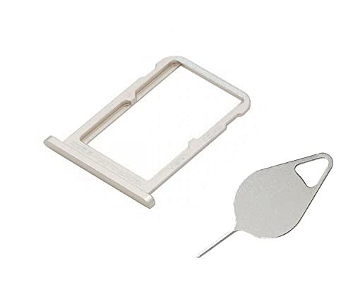 OnlyTech - Cajón para tarjeta SIM doble y tarjeta de memoria Micro SD de Xiaomi Mi A2 dorado + herramienta de extracción