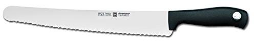 WÜSTHOF Konditormesser mit Wellenschliff, Silverpoint (4501-7), Klinge 26 cm, rostfreier Stahl, spülmaschinengeeignet, Schneidemesser mit Welle