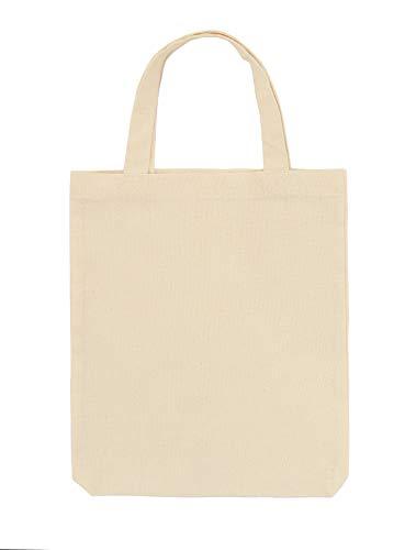 Bolsa de algodón Polhim, 28 x 32 cm, 25 unidades, bolsa de yute, asa corta, 145 g/m², ideal para pintar