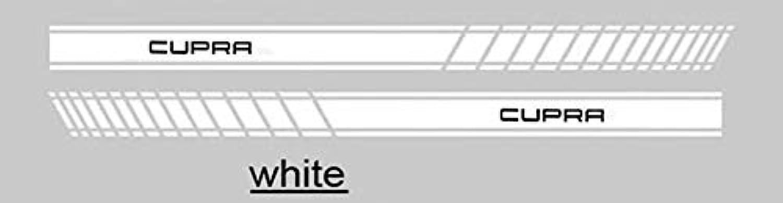 1 Pair KK car Side Body Sticker for SEAT Leon Cupra R Car Accessories  (color Name  White Cupra)