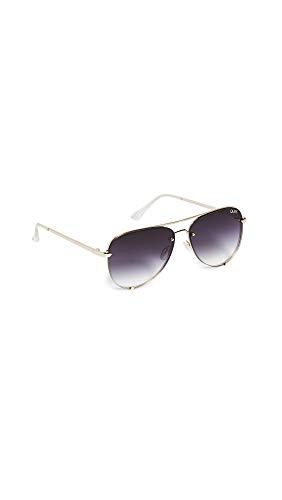 Quay Women's High Key Mini Rimless Sunglasses, Gold/Fade, One Size