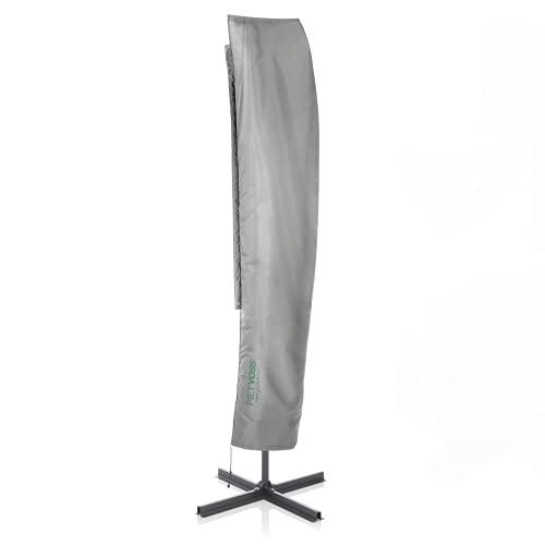 PIETVOSS Ampelschirm Schutzhülle HxB 265x50 cm. (XL) wasserdichte Abdeckung für Ampelsonnenschirme mit Stab. Schutzhülle Ampelschirm inkl. Packtasche