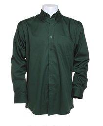 Kustom Kit d'entreprise Oxford chemise à manches longues bouteille vert 19.5