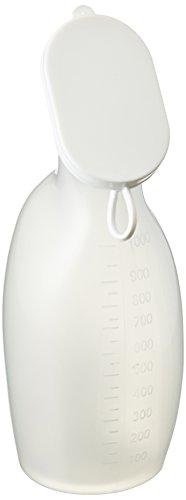 Servoprax I9 931 Servocare Urinflasche für Frauen, 1000 mL Volumen, Weiß