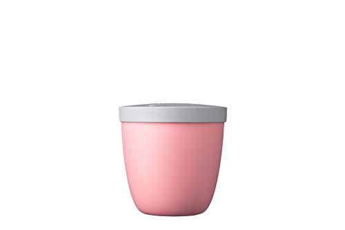 Mepal Snackpot Ellipse Nordic pink – 500 ml praktischer Behälter zur Aufbewahrung und für Transport von Lebensmittel – tiefkühltauglich – spülmaschinenfest, pp, 107 mm