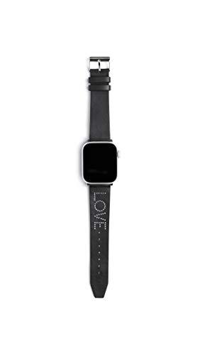 Rebecca Minkoff Leather Calfskin Black Watch Strap, 20 (Model: 2250112)