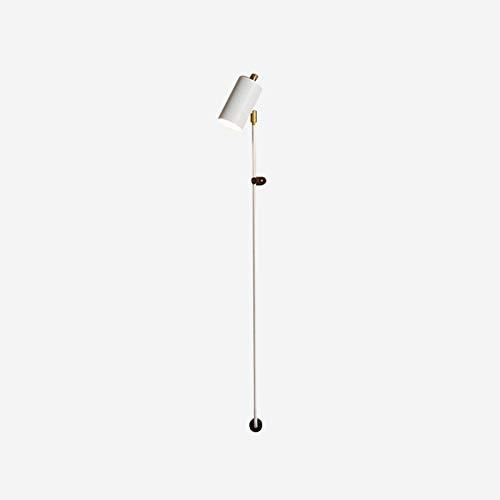 Moderno -Luces Ajustable Blanco Lampara De Pared,E27 Simple Con Enchufe Luz Cálida Aplique Pared,Polo Largo Aplique Pared Para Dormitorio Salón-Warm light(6000k) 8x18cm(3x7inch)