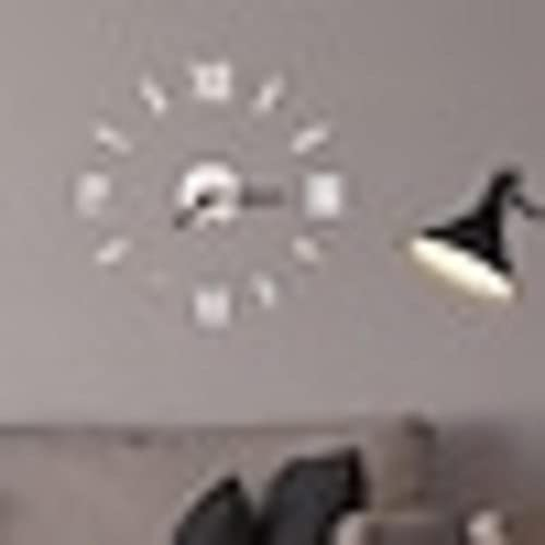 Reloj de pared moderno para bricolaje, acrílico contemporáneo, redondo, clásico, para interiores y exteriores, decoración de batería, reloj de pared negro/60 x 60 cm