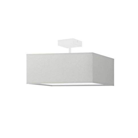 Lámpara de techo Alba con pantalla gris claro, marco blanco, 3 bombillas E27