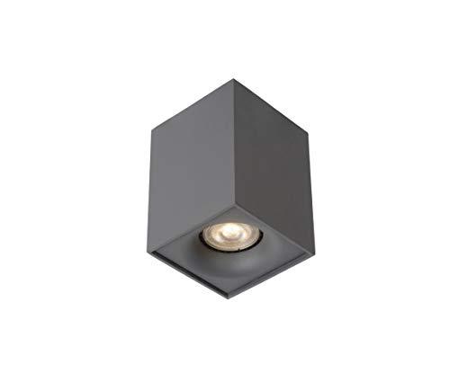 Lucide BENTOO-LED - Spot Plafond - LED Dim. - GU10 - 1x4,5W 3000K - Gris