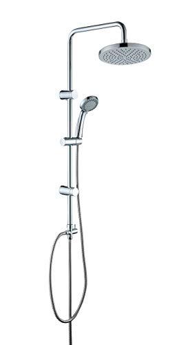 JOHO ABS Duschsystem Duschset Duschstange Duschkopf D210mm